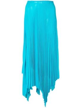 asymmetric pleated skirt BLUE