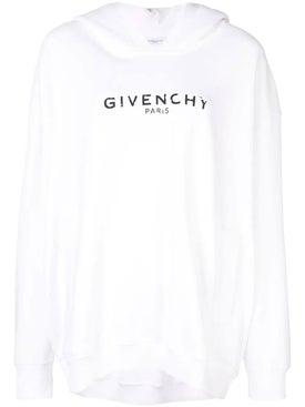 Givenchy - Oversized Logo Hoodie White - Sweatshirts