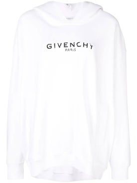 Givenchy - Oversized Logo Hoodie White - Women