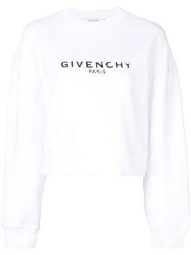 Givenchy - Logo Cropped Sweatshirt White - Sweatshirts