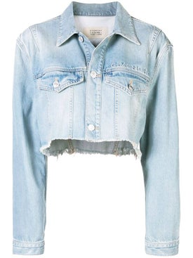 Givenchy - Cropped Denim Jacket Blue - Jackets