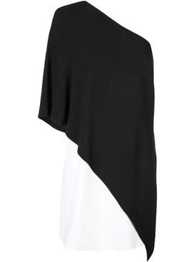 Givenchy - One Shoulder Shift Dress Black/white - Women