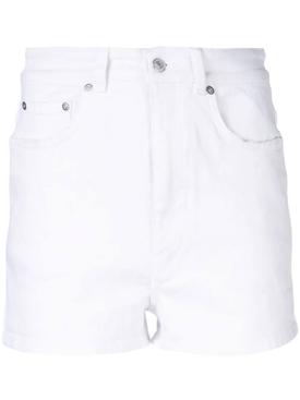 White denim shorts WHITE