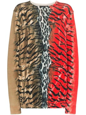 Neil Barrett - Safari Print Sweater Red - Men