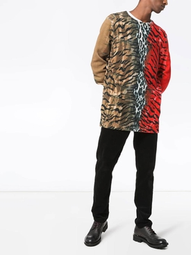 Safari print sweater RED