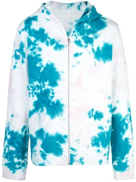 The Elder Statesman - Marble Tie-dye Zipped Hoodie - Men