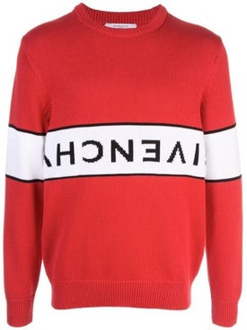 Givenchy - Reverse Logo Jumper Red - Men