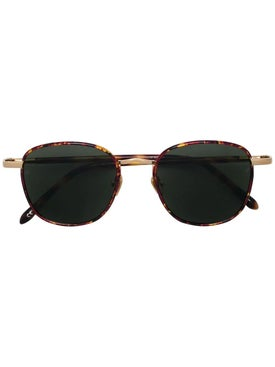 Linda Farrow - Tortoise Shell Round Frame Sunglasses - Men