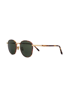 tortoise shell round frame sunglasses