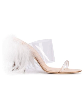 see-through strappy mule CLEAR
