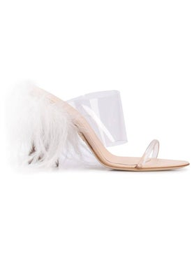 Brother Vellies - See-through Strappy Mule Clear - Women