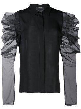 Cushnie - Mesh Sleeves Blouse Black - Women