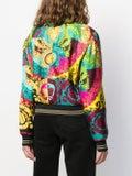 Versace - Baroque-print Silk Bomber Jacket - Women