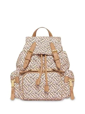 The Small Rucksack in Monogram Print Nylon