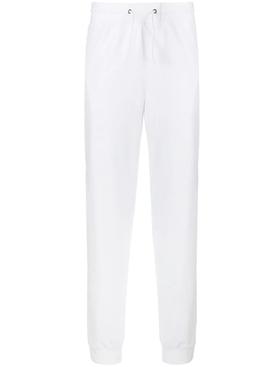 logo stripe track pants WHITE