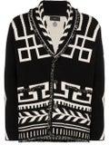 Alanui - Black And White Intarsia Knit Cashmere Cardigan - Men
