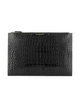 Givenchy - Black Embossed Large Antigona Pouch - Women
