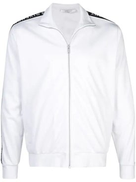 Givenchy - Ticker Sleeve Logo Zip Up Track Jacket White - Men