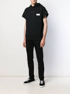 Givenchy - Drawstring Short Sleeve Hoodie Black - Men