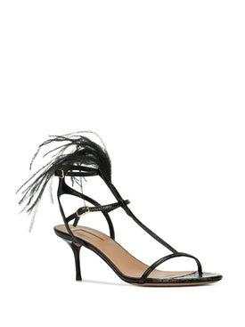 Aquazzura - Ponza Feather Sandals - Women