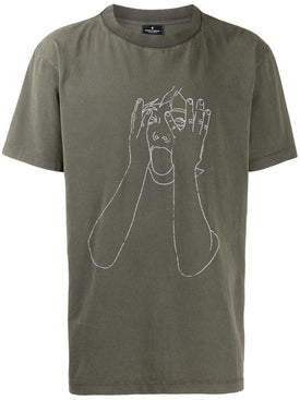 Marcelo Burlon County Of Milan - Sketch Outline T-shirt Green - T-shirts