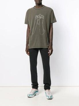 Marcelo Burlon County Of Milan - Sketch Outline T-shirt Green - Men