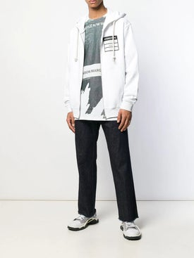 Maison Margiela - Stereotype Zip Front Hoodie White - Activewear