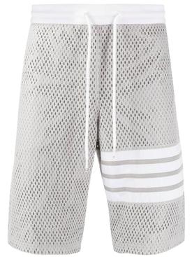 Mesh track shorts LIGHT GREY