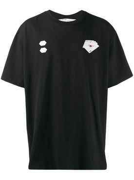 Off-white - Hand Card Print T-shirt Black - Men