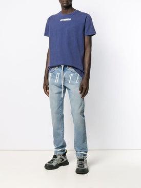 Off-white - Skulls Print T-shirt Blue - Men