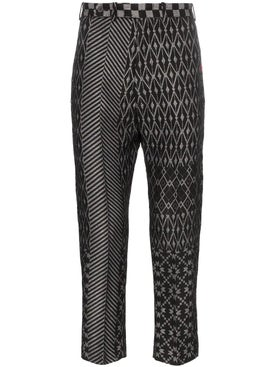 Haider Ackermann - Cropped Jacquard Trousers - Men