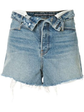 Alexanderwang - Open Flap Mid Rise Denim Shorts - Women