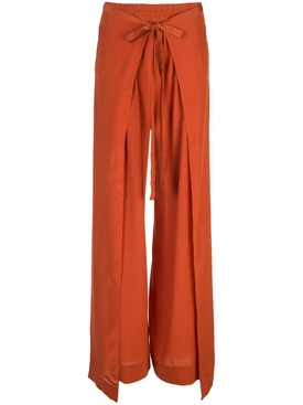Loose fit terracotta pants