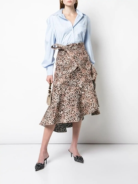 Leopard print wrap around skirt