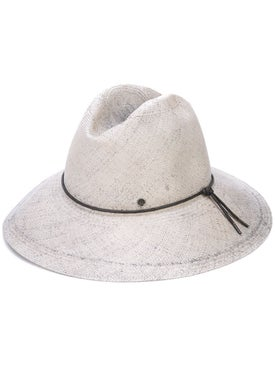 Maison Michel - Kate Bleached Straw Grey Hat - Women