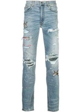 Amiri - Art Patch Jean Indigo - Jeans