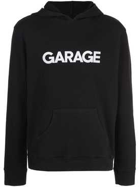 Garage x The Elder Statesman Black Logo Hoodie