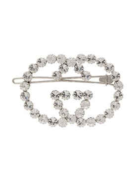 Gucci - Double Gg Embellished Hair Pin - Women