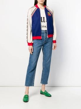 cherry patch bomber jacket