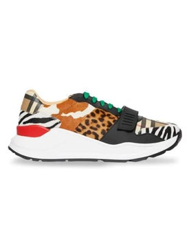 Burberry - Animal Print And Classic Vintage Check Sneakers - Men