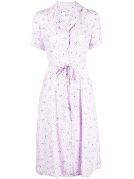 Hvn - Maria Button Down Flamingo Print Dress - Women