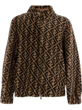 Fendi - Reversible Shearling Ff Monogram Jacket - Leather Jackets