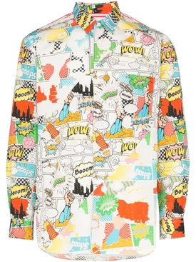 Comic book print shirt