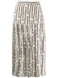 Salvatore Ferragamo - Pleated Print Skirt Neutral - Women