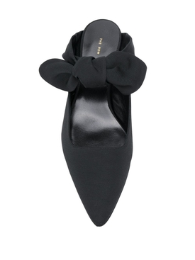 black bow coco mules
