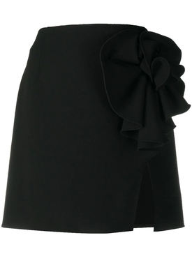 Black bow mini skirt