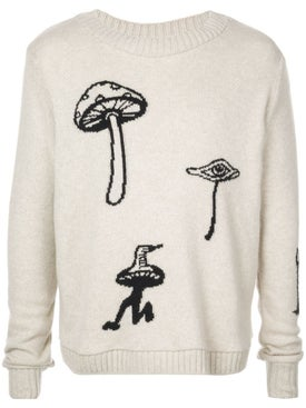 The Elder Statesman - Mushroom Intarsia Jumper - Men