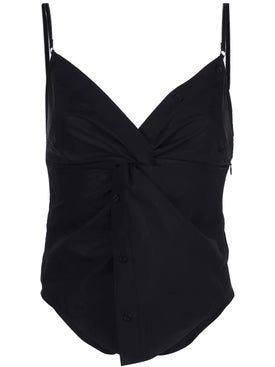 Alexanderwang - Black Twisted Front Cami Top - Women