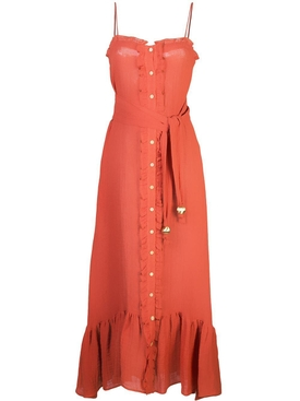 Lisa Marie Fernandez - Paprika Button Down Ruffle Dress - Women