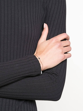 18kt rose gold evil eye diamond bracelet